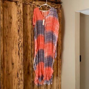 NWT lovestitch dress cover up onesize tie dye